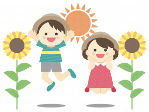 子供と太陽