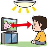 TVを見ている子ども